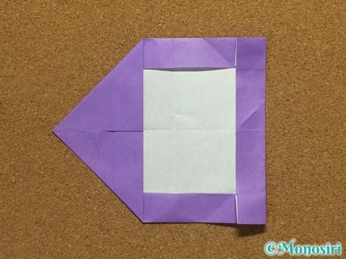 折り紙でアルファベットのCの折り方18