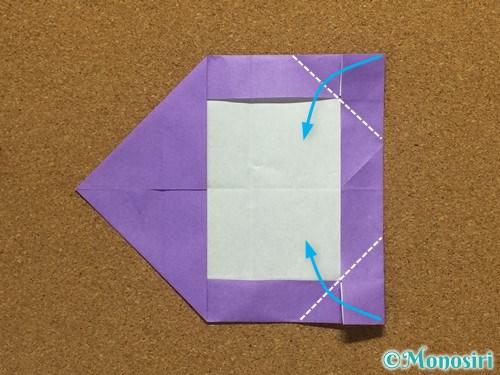 折り紙でアルファベットのCの折り方19