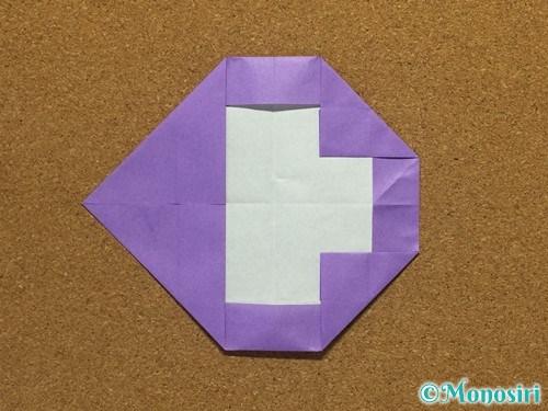 折り紙でアルファベットのCの折り方20