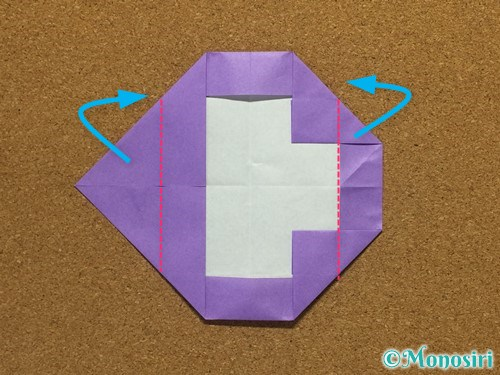 折り紙でアルファベットのCの折り方21