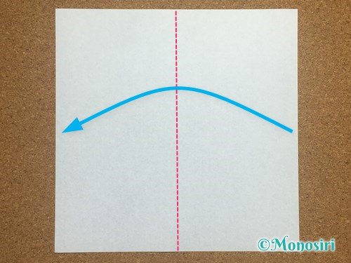 折り紙でアルファベットのMの折り方1