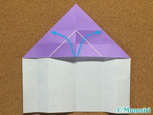 折り紙でアルファベットのMの折り方12