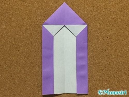 折り紙でアルファベットのMの折り方17