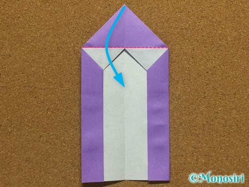 折り紙でアルファベットのMの折り方18