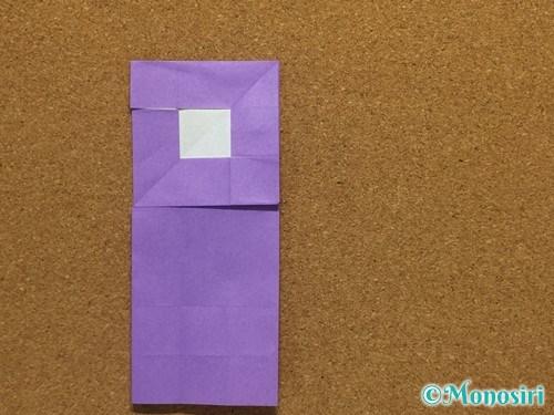 折り紙でアルファベットのRの折り方23