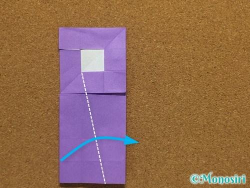 折り紙でアルファベットのRの折り方24