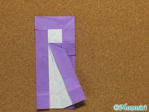 折り紙でアルファベットのRの折り方25