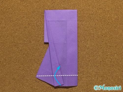 折り紙でアルファベットのRの折り方28