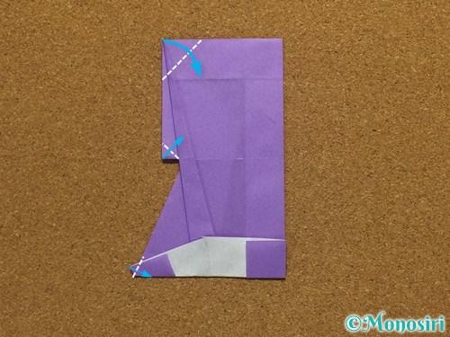 折り紙でアルファベットのRの折り方30