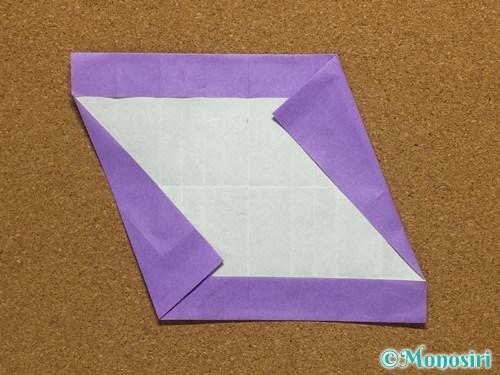 折り紙でアルファベットのSの折り方20