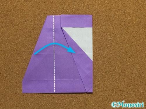 折り紙でアルファベットのSの折り方23