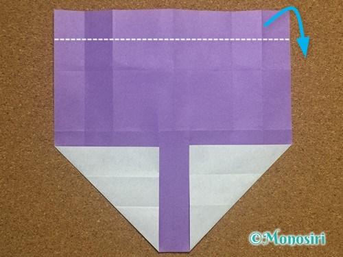 折り紙でアルファベットのTの折り方13