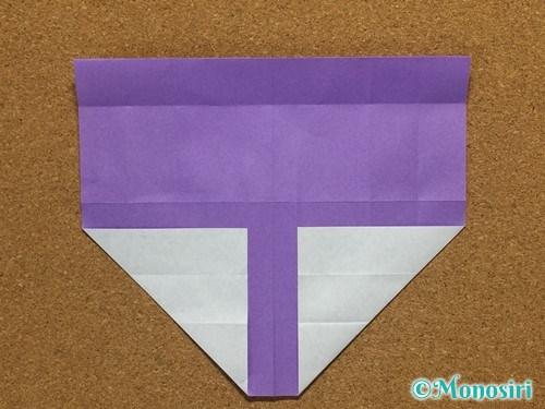 折り紙でアルファベットのTの折り方14