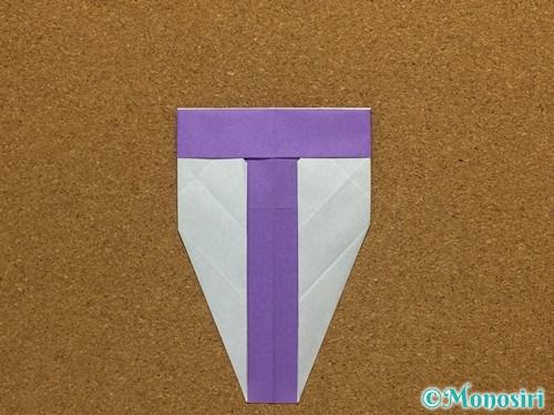 折り紙でアルファベットのTの折り方20