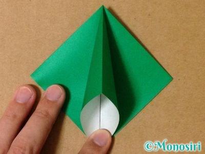 折り紙で立体的なクリスマスツリーの折り方10