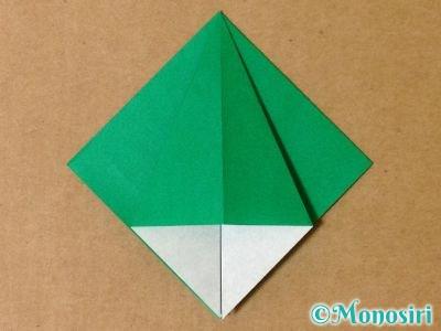 折り紙で立体的なクリスマスツリーの折り方11