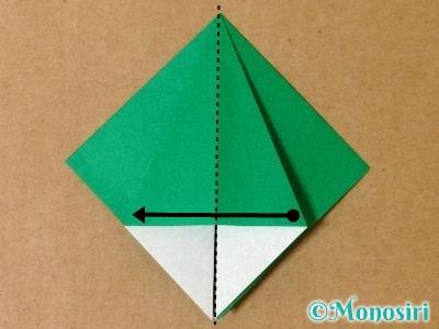 折り紙で立体的なクリスマスツリーの折り方12