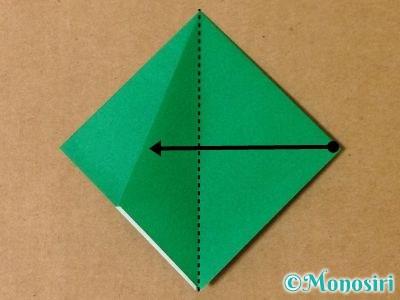 折り紙で立体的なクリスマスツリーの折り方13