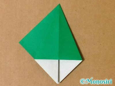 折り紙で立体的なクリスマスツリーの折り方15