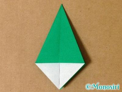 折り紙で立体的なクリスマスツリーの折り方16