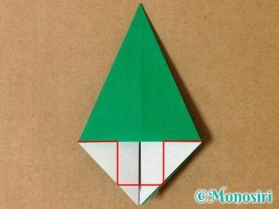 折り紙で立体的なクリスマスツリーの折り方18