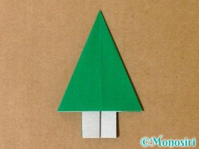 折り紙で立体的なクリスマスツリーの折り方19