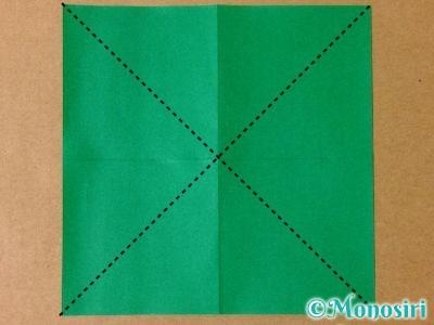 折り紙で立体的なクリスマスツリーの折り方2