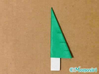 折り紙で立体的なクリスマスツリーの折り方22