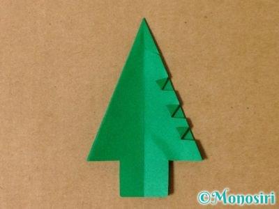 折り紙で立体的なクリスマスツリーの折り方27