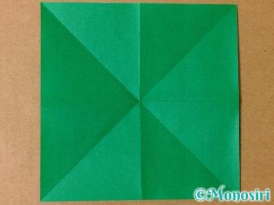 折り紙で立体的なクリスマスツリーの折り方3