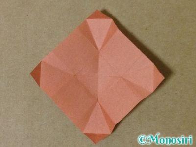 折り紙で立体的なクリスマスツリーの折り方39