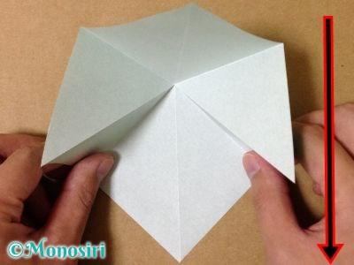 折り紙で立体的なクリスマスツリーの折り方4