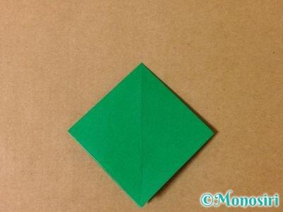 折り紙で立体的なクリスマスツリーの折り方5