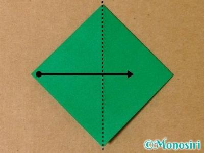 折り紙で立体的なクリスマスツリーの折り方6