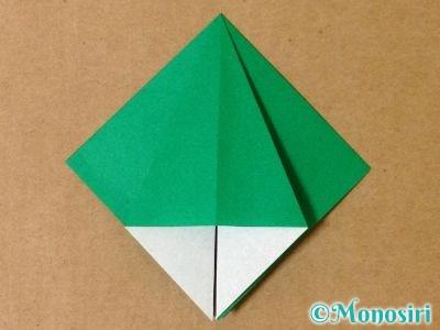 折り紙で立体的なクリスマスツリーの折り方8