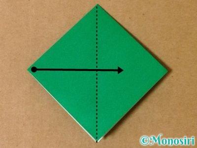 折り紙で立体的なクリスマスツリーの折り方9