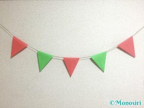 折り紙でガーランドの作り方10