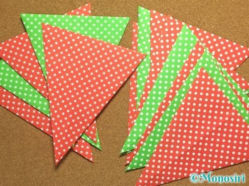 折り紙でガーランドの作り方6