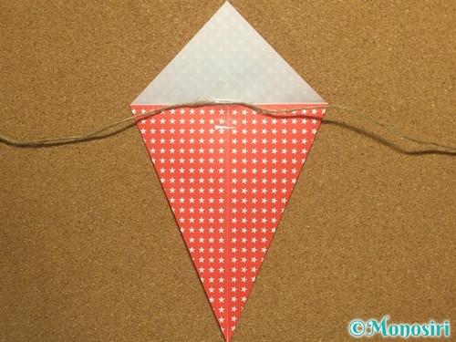 折り紙でガーランドの作り方7