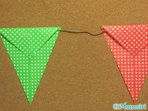 折り紙でガーランドの作り方9