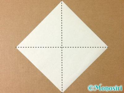 折り紙でグラスボールの折り方1