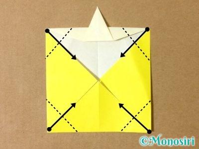 折り紙でグラスボールの折り方11