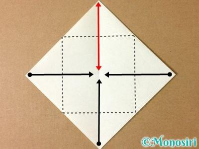 折り紙でグラスボールの折り方2