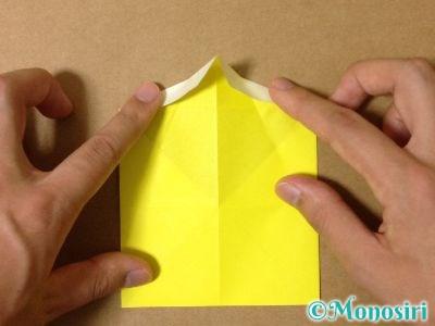 折り紙でグラスボールの折り方7