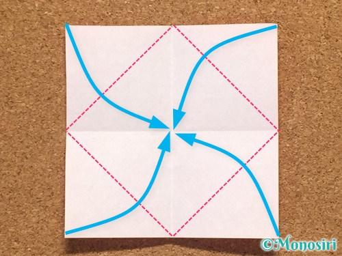 折り紙で柊(ひいらぎ)の折り方12