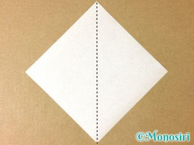 折り紙で簡単なサンタクロースの折り方1