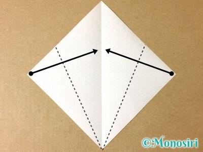 折り紙で簡単なサンタの折り方クロース2