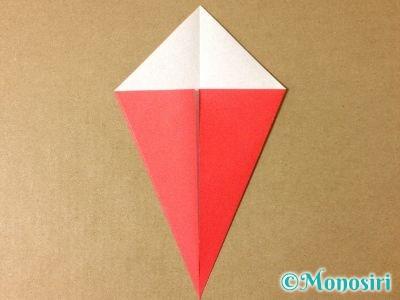 折り紙で簡単なサンタクロースの折り方3