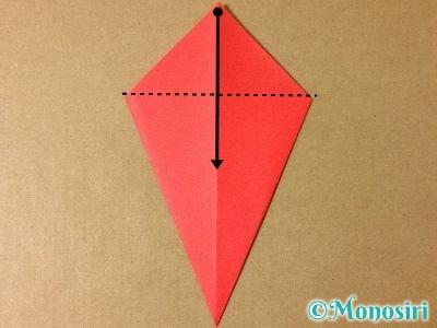 折り紙で簡単なサンタクロースの折り方4