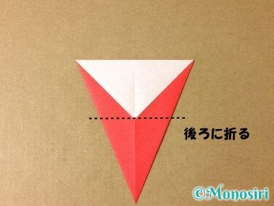 折り紙で簡単なサンタクロースの折り方5